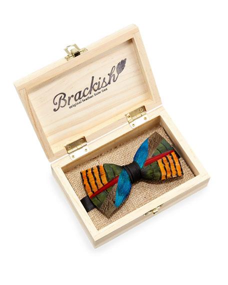 Wayfair Pheasant & Peacock Feather Bow Tie
