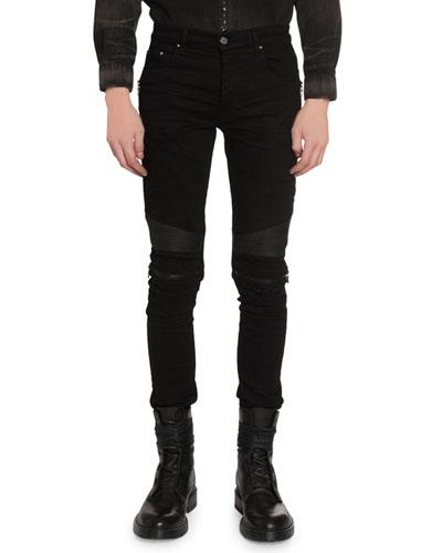 Men's MX2 Skinny Moto Stretch-Denim Jeans
