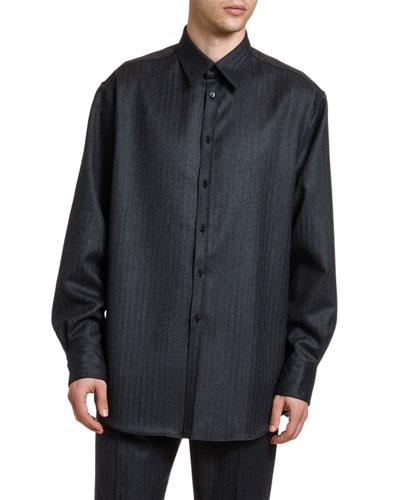 Men's Wool Sport Shirt