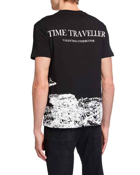 in Conversation with Undercover Men's Time Traveller Graphic Crewneck T-Shirt