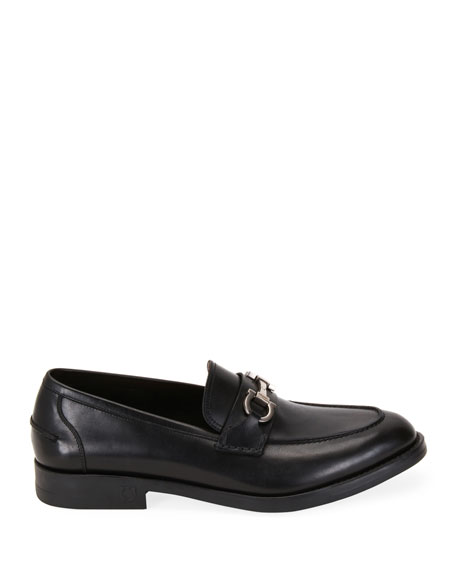 Men's Scarlet Gancini-Bit Leather Loafers