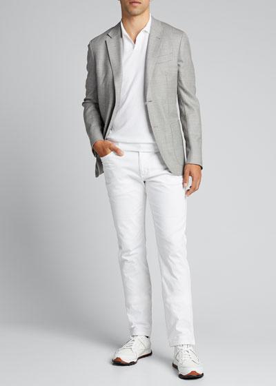 Men's Stretch-Twill Five-Pocket Pants