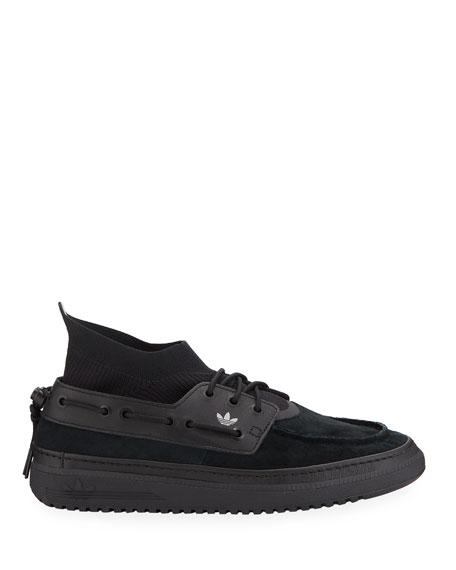 Men's Korsika Moc-Toe Nubuck Boat Sneakers