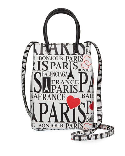 Men's Paris Bonjour Shopper Tote Bag