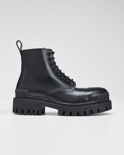 Men's Shrike Lug-Sole Leather Combat Boots
