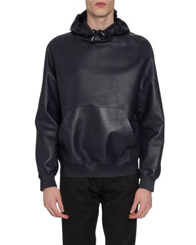 Men's Leather Sweatshirt