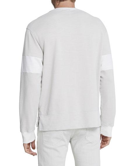 Men's Hydro Colorblock Crewneck Long-Sleeve T-Shirt