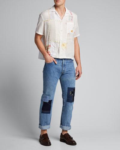 Men's Handkerchief Bowling Shirt