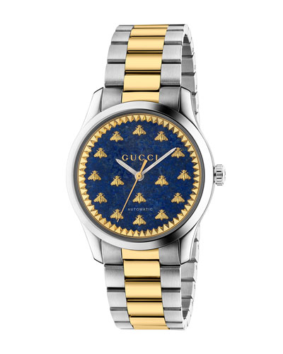 Men's Signature Bee Automatic Two-Tone Bracelet Watch