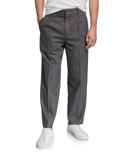 Men's x B Shop Federal Wide-Leg Wool Pants