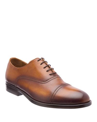 Men's Butler Burnished Leather Oxford Shoes