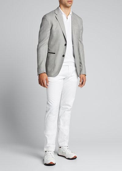 Men's Textured Stretch-Wool Blazer
