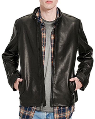 Men's Orlando Leather Racer Jacket