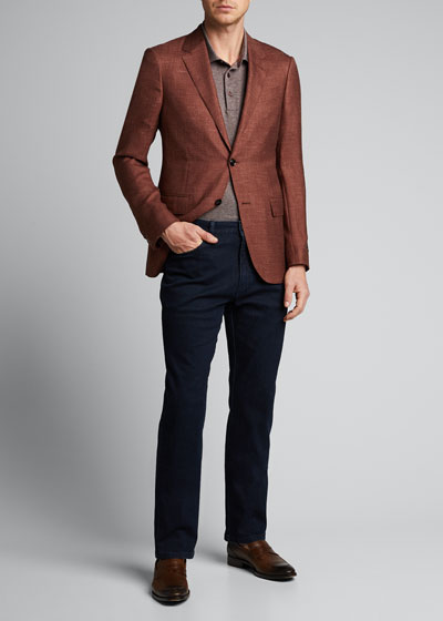 Men's Twill Cotton Polo Shirt