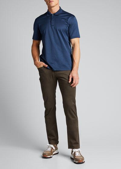 Men's Melange Polo Shirt
