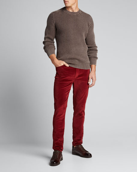 Image 1 of 1: Men's Brando Slim-Fit Velvet Pants