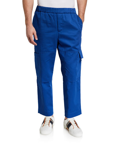 Men's Cropped Twill Cargo Pants