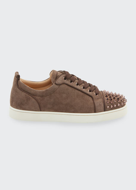 Men's Louis Junior Suede Spiked Low-Top Sneakers
