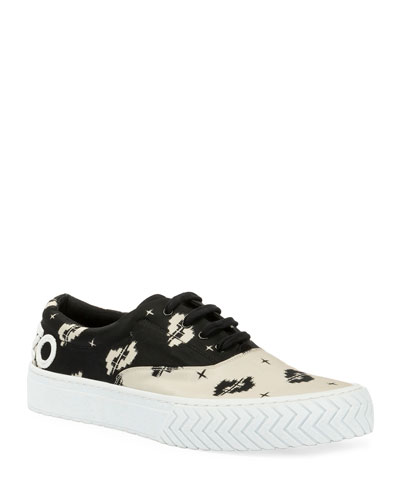Men's K-Skate Two-Tone Patterned Sneakers