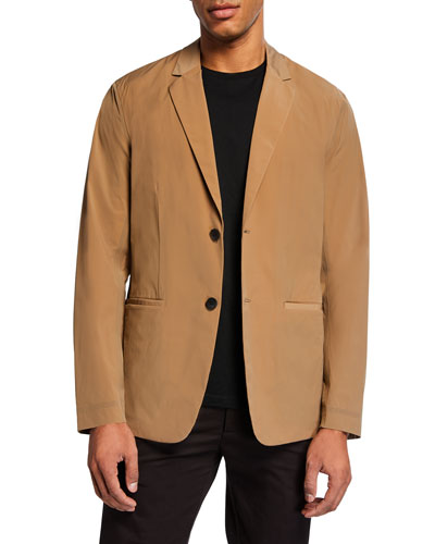 Men's Euclid Paper Nylon Two-Button Packable Jacket