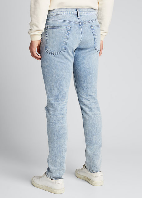 Men's Standard Issue Fit 1 Distressed Slim-Skinny Jeans