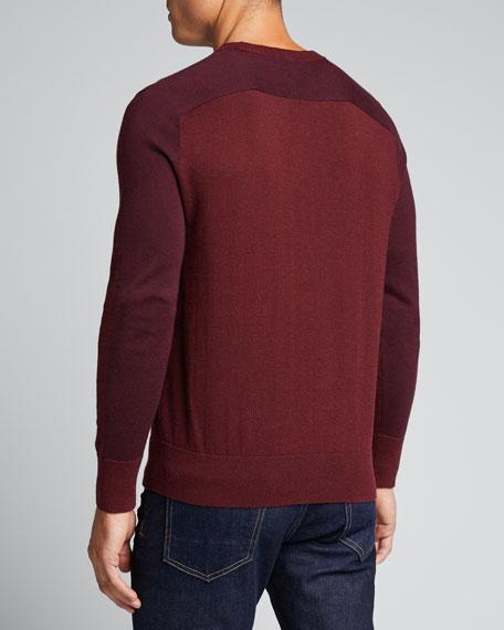 Men's Barron Cotton-Silk Colorblock Sweater
