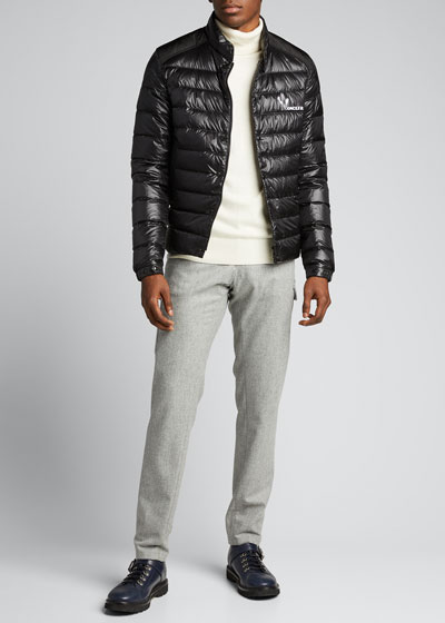Men's Alton Snap-Front Puffer Coat