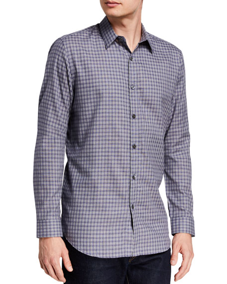 Image 1 of 1: Men's Irving Visby Check Dress Shirt