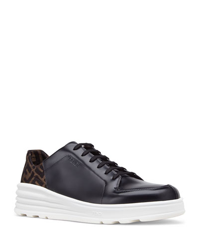 Men's Logo-Back Chunky Leather Sneakers