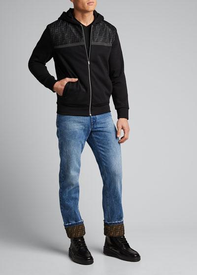 Men's FF Net Zip-Front Hoodie Sweatshirt