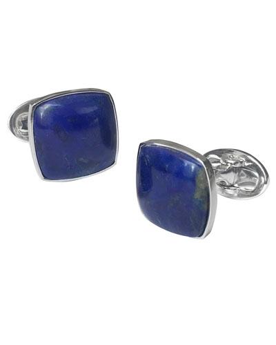 Men's Square Lapis Lazuli Cufflinks