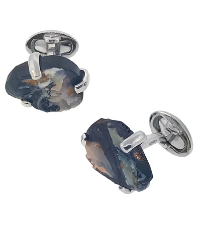 Men's Free Shape Colorado Opal Cufflinks
