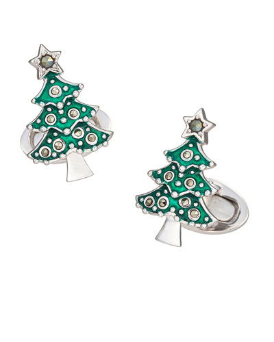 Men's Christmas Tree Cufflinks