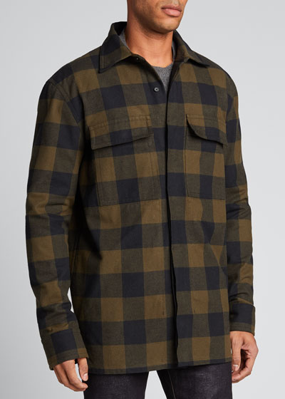 Men's Buffalo Check Shirt Jacket