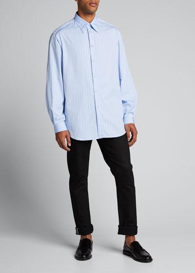 Men's Washed Striped Sport Shirt