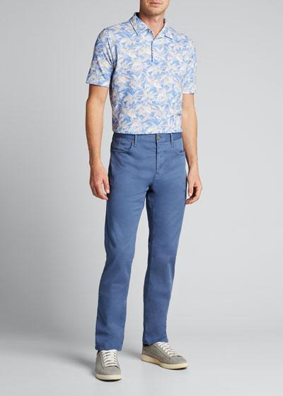 Men's Floral Polo Shirt