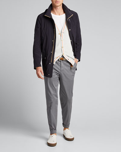 Men's Mid-Length Zip-Front Jacket