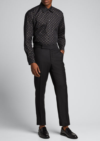 Men's Interlocking BB Point-Collar Sport Shirt