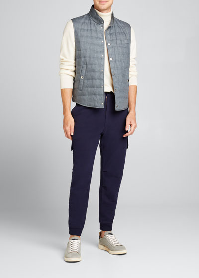 Men's Linen Padded Vest