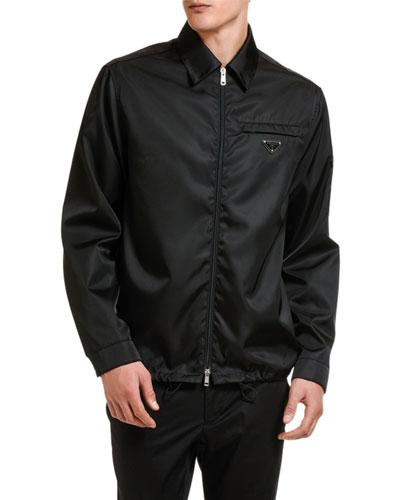 Men's Gabardine Zip-Front Jacket