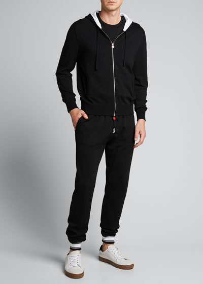 Men's Sea Island Cotton Track Pants w/ Stripes