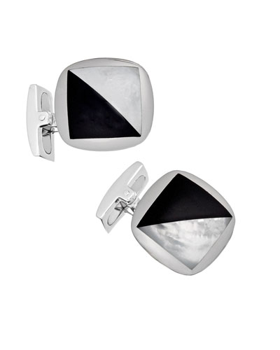 Men's Square Onyx & Mother-of-Pearl Cufflinks