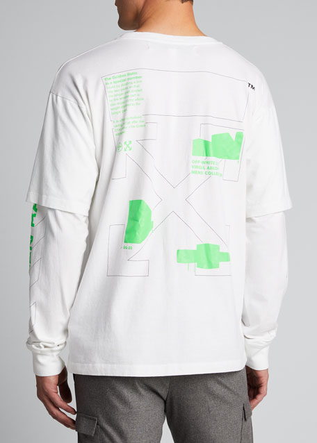 Men's Arch Shapes Long-Sleeves Graphic T-Shirt