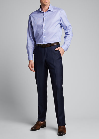 Men's Micro-Stripe Cotton Dress Shirt