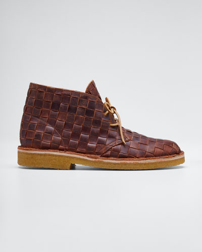 Men's Desert Beewax Woven Chukka Boots