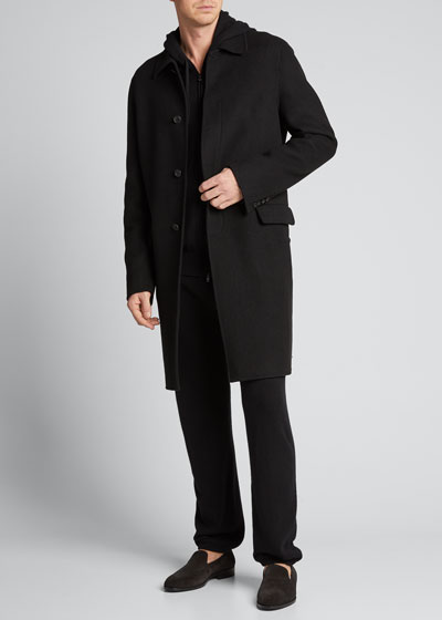 Men's Hale Solid Cashmere Coat