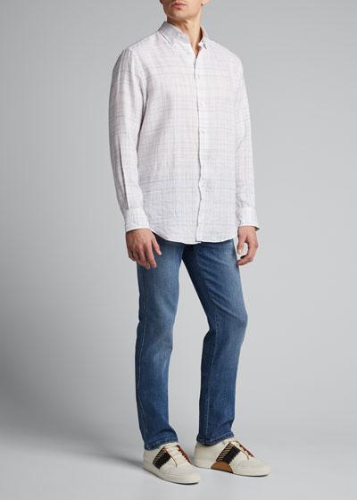 Men's Graph Check Linen Sport Shirt