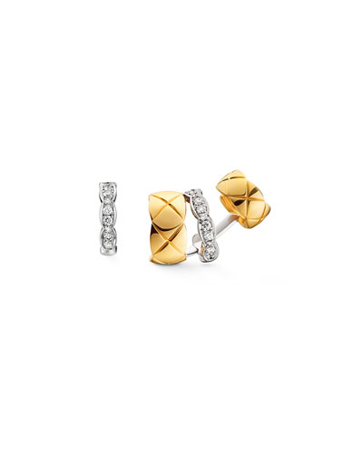 COCO CRUSH EARRINGS IN 18K WHITE AND YELLOW GOLD WITH DIAMONDS