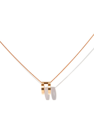 Two-Row Pendant Necklace in 18K Rose Gold