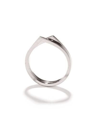 Antifer Two-Row Ring in 18K White Gold